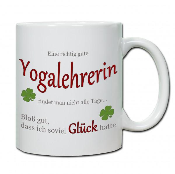 """""""Eine richtig gute Yogalehrerin findet man nicht alle Tage ..."""" Tasse, Keramiktasse"""