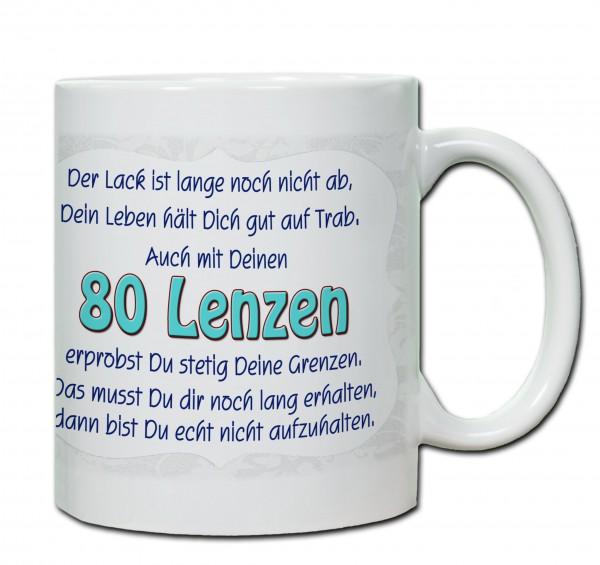 """Tasse 80. Geburtstag """"80 Lenzen"""""""
