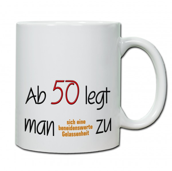 """""""50. Geburtstag - Tasse 05"""" Tasse, Keramiktasse"""