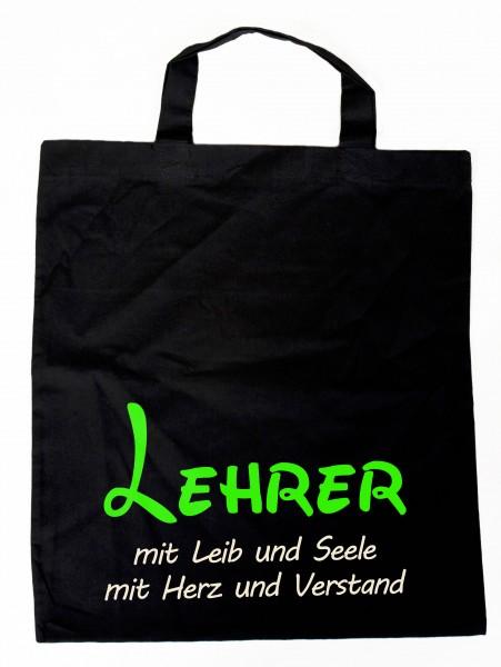 Baumwollbeutel Lehrer mit Leib & Seele, Einkaufstasche