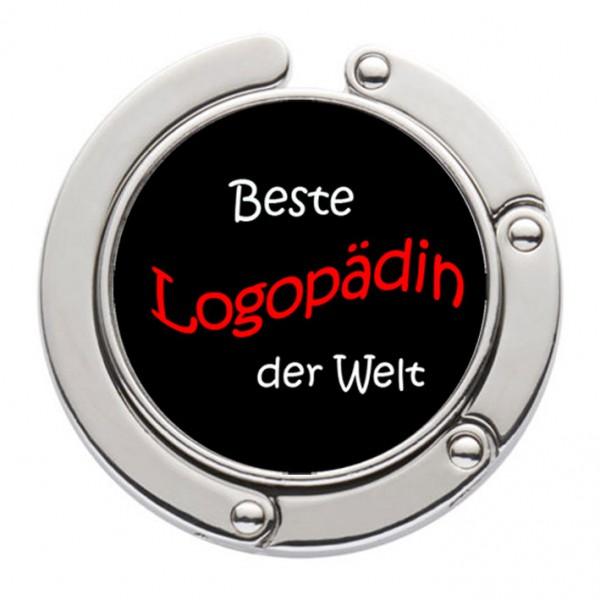 """""""Beste Logopädin der Welt"""" Taschenhalter mit magnet. Gliederhalterung - Taschenhaken & Handtaschenhalter"""