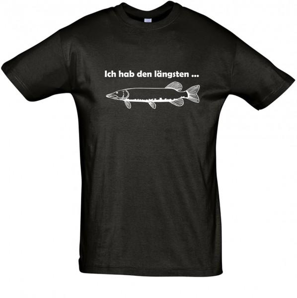 Hab den längsten T-Shirt, Fun-T-Shirt - bedruckt mit Folie