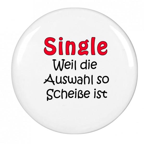 Single..., Magnet, Kühlschrankmagnet, 56mm Durchmesser