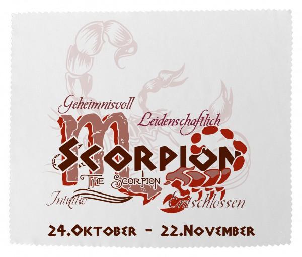 """""""Skorpion"""" Brillenputztuch Glasreinigungstuch 15x18 cm inkl. Verpackung"""