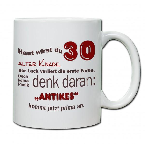 """""""30. Geburtstag - Tasse 06"""" Tasse, Keramiktasse"""
