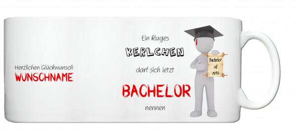 """Bachelor of Arts"" Tasse, Keramiktasse mit Wunschnamen"