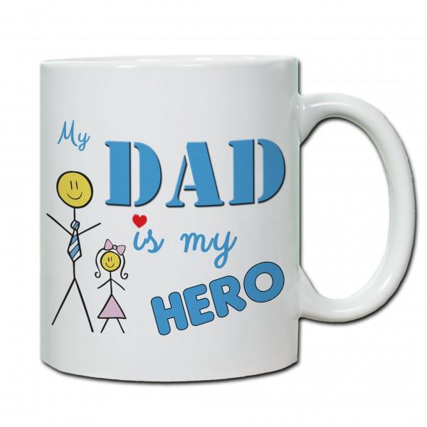 Tasse zum Vatertag My Dad is my Hero(Tochter)