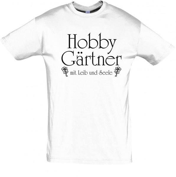 """""""Hobby Gärtner"""" T-Shirt, Fun-T-Shirt - bedruckt mit Folie"""