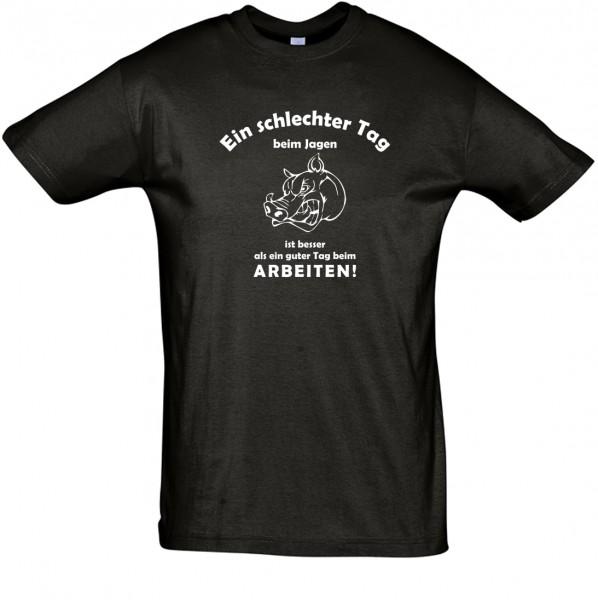 """""""Schlechter Tag beim Jagen"""" T-Shirt, Fun-T-Shirt - bedruckt mit Folie"""