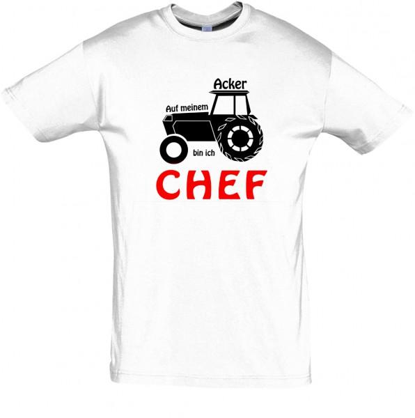 AckerChef T-Shirt, Fun-T-Shirt - bedruckt mit Folie