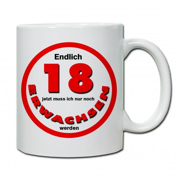 """""""18. Geburtstag - Tasse 04"""" Tasse, Keramiktasse"""
