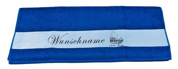 Sternzeichen Skorpion und Wunschname Badetuch Duschtuch Handtuch