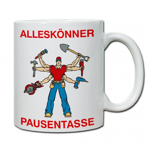 """Alleskönner - Pausentasse"" Tasse, Keramiktasse zum Vatertag"