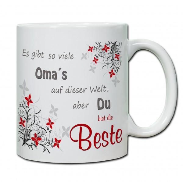 """""""Es gibt so viele Oma`s auf der Welt, aber du bist die Beste"""" Tasse, Keramiktasse"""
