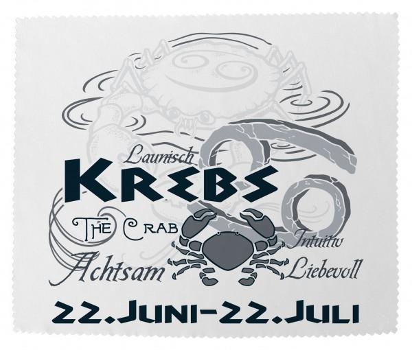 """""""Krebs"""" Brillenputztuch Glasreinigungstuch 15x18 cm inkl. Verpackung"""