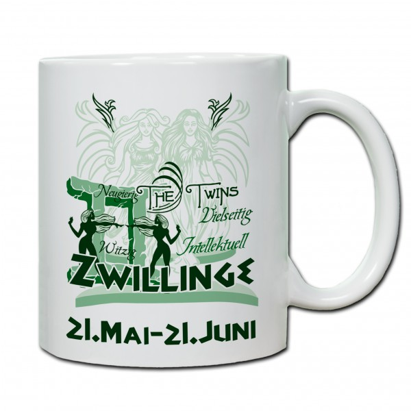 """""""Zwilling01"""" Tasse, Keramiktasse mit Sternzeichen"""