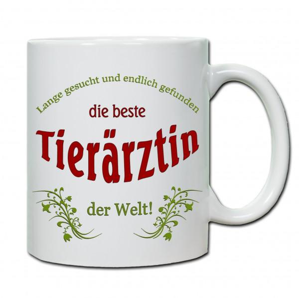 """""""Beste Tierärztin der Welt..."""" Tasse, Keramiktasse"""
