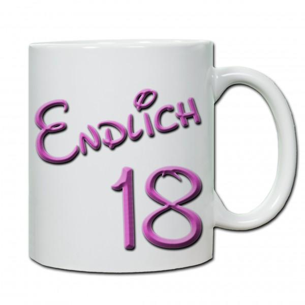 """""""18. Geburtstag - Tasse 03"""" Tasse, Keramiktasse"""