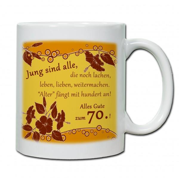 """""""70. Geburtstag - Tasse 03"""" Tasse, Keramiktasse"""