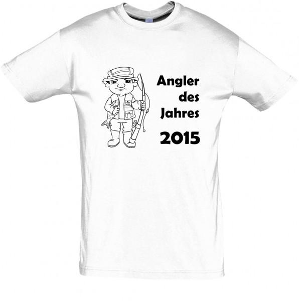 Angler des Jahres T-Shirt, Fun-T-Shirt - bedruckt mit Folie