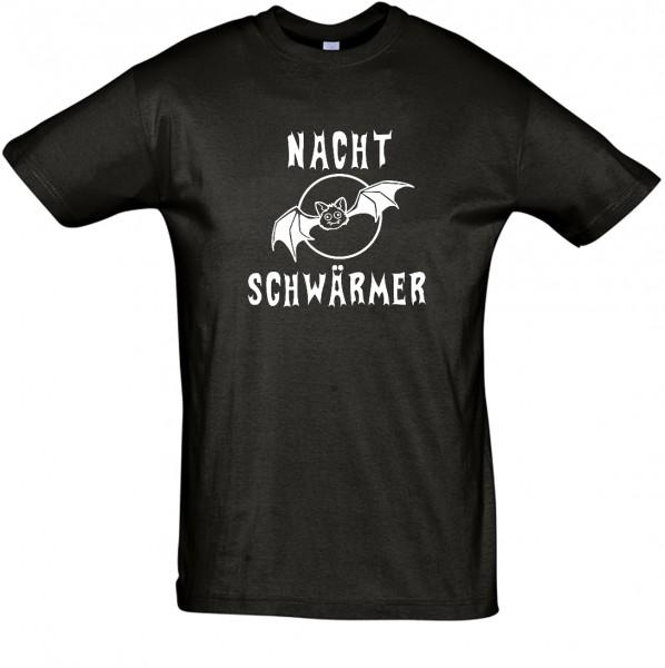 Nachtschwärmer T-Shirt, Fun-T-Shirt - bedruckt mit Folie