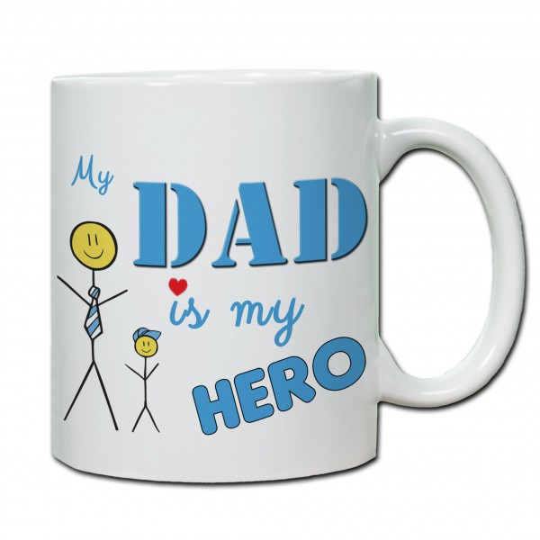 Tasse zum Vatertag My Dad is my Hero (Sohn)