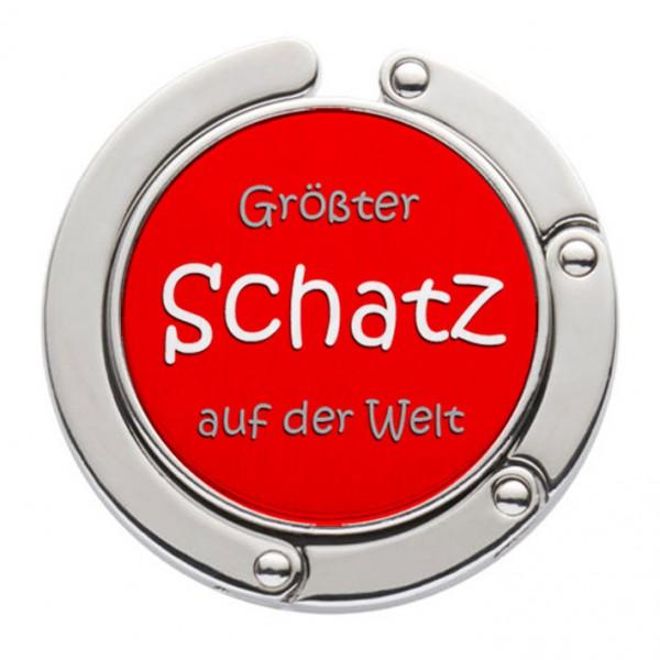 """""""Größter Schatz der Welt"""" Taschenhalter mit magnet. Gliederhalterung - Taschenhaken & Handtaschenhalter"""