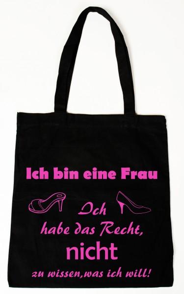 Ich bin eine Frau ... Baumwollbeutel, Tasche, Bag - witziger Spruch
