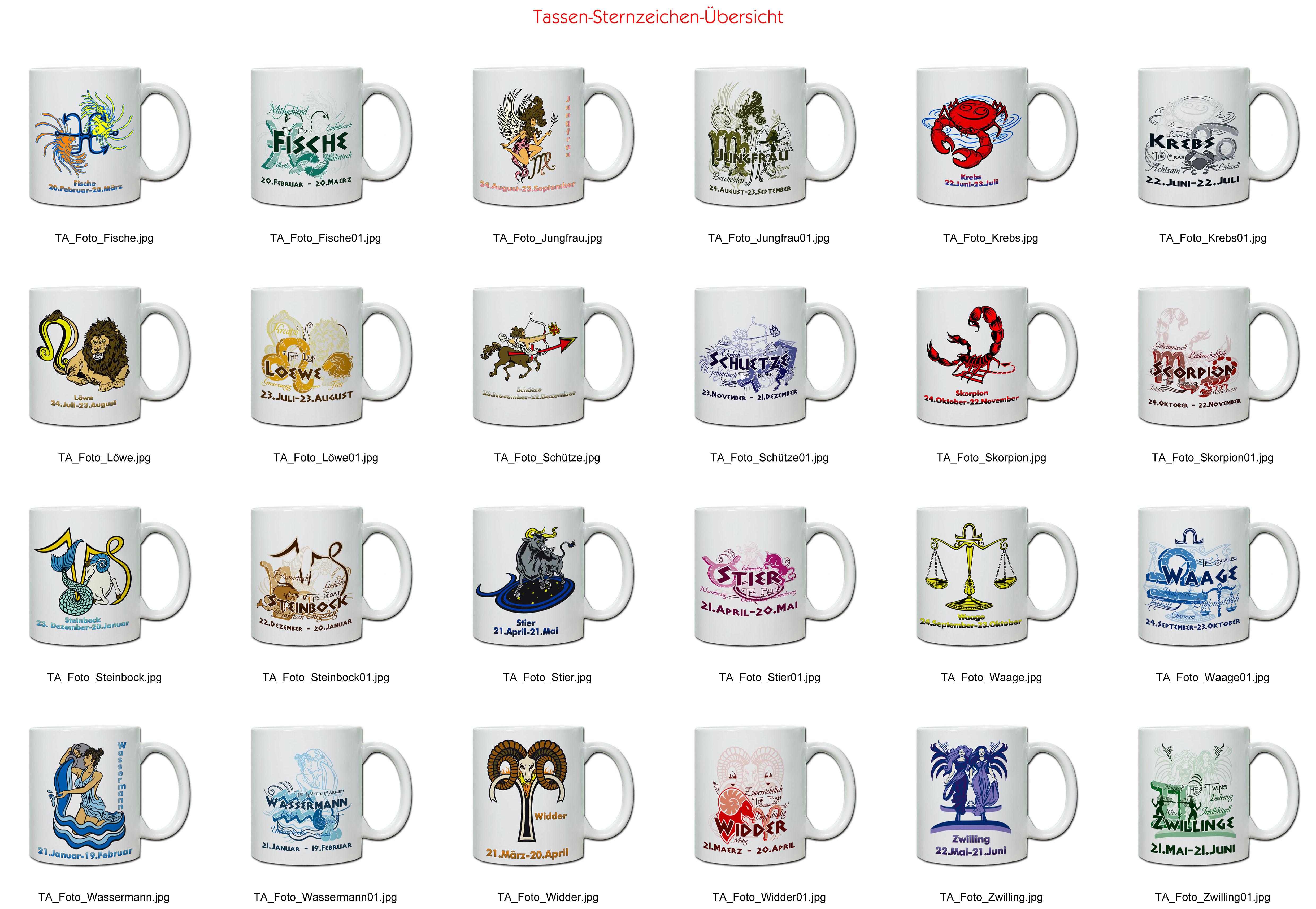 Tasse Keramiktasse Mit Sternzeichen Wwwhandmade In Nbde