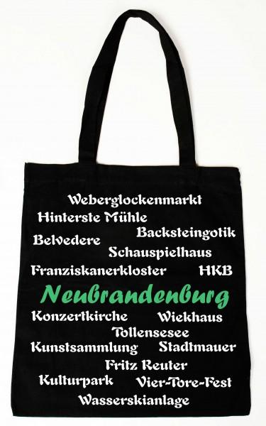 Baumwollbeutel Neubrandenburg mit Wahrzeichen der Stadt