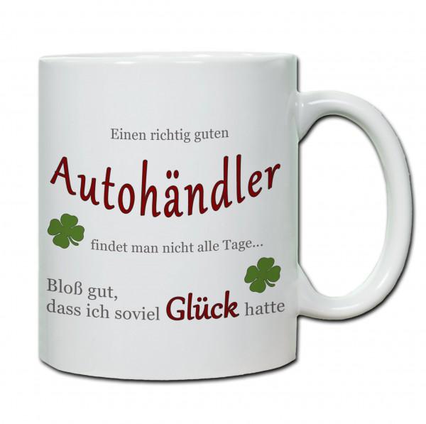 """""""Einen richtig guten Autohändler..."""" Tasse, Keramiktasse"""
