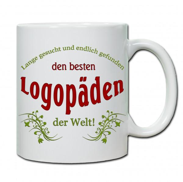 """Bester Logopäde..."" Tasse, Keramiktasse"