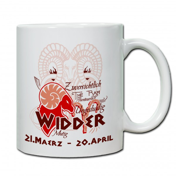"""""""Widder01"""" Tasse, Keramiktasse mit Sternzeichen"""