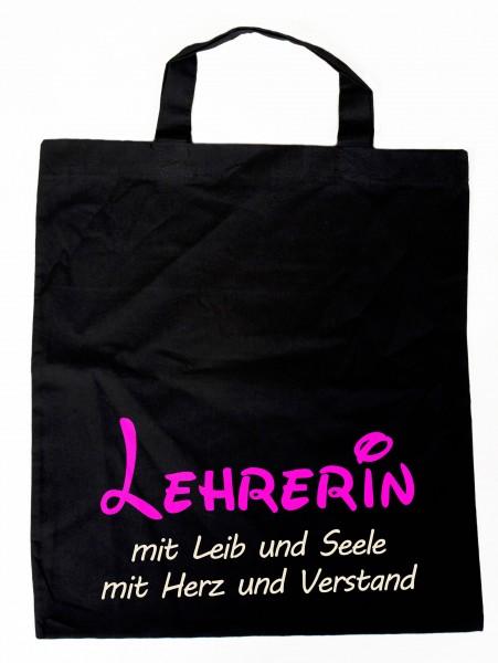 Baumwollbeutel Lehrerin mit Leib & Seele, Einkaufstasche