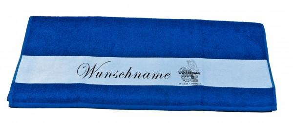 Sternzeichen Wassermann und Wunschname Badetuch Duschtuch Handtuch