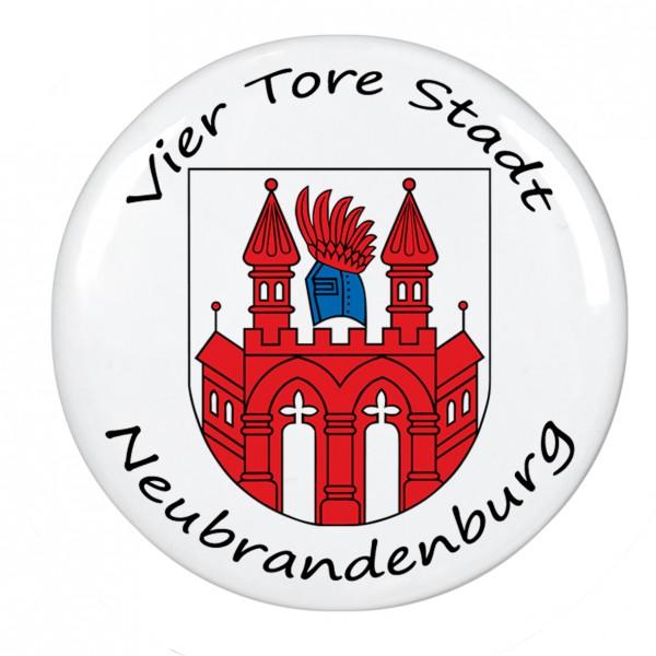 Vier Tore Stadt Neubrandenburg, Magnet, Kühlschrankmagnet, 56mm Durchmesser