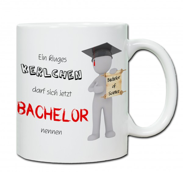 """Bachelor of Sience"" Tasse, Keramiktasse mit Wunschnamen"
