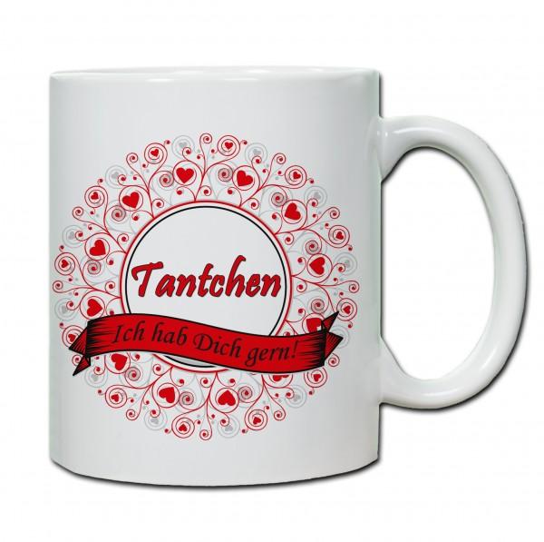 """""""Tantchen - ich hab Dich gern!"""" Tasse, Keramiktasse"""
