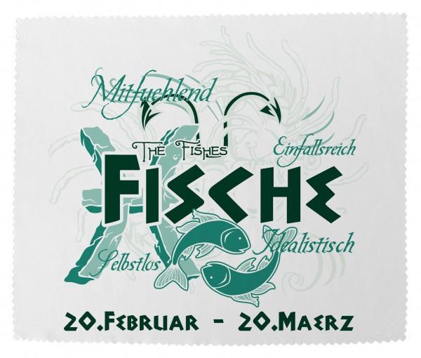 """""""Fische"""" Brillenputztuch Glasreinigungstuch 15x18 cm inkl. Verpackung"""