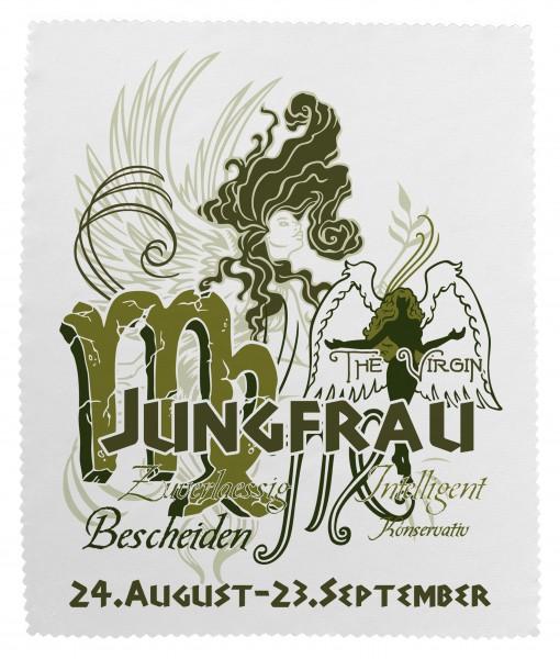 """""""Jungfrau"""" Brillenputztuch Glasreinigungstuch 15x18 cm inkl. Verpackung"""
