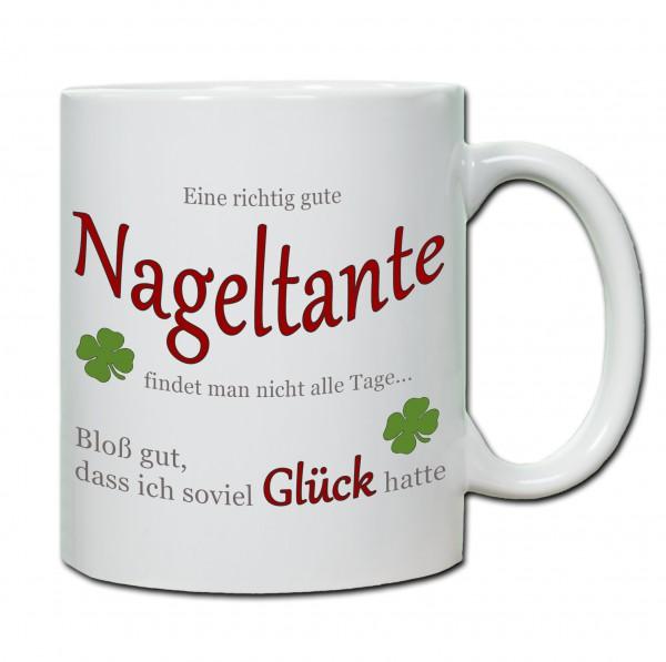 """""""Eine richtig gute Nageltante findet man nicht alle Tage ..."""" Tasse, Keramiktasse"""