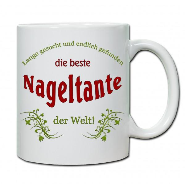 """""""Beste Nageltante..."""" Tasse, Keramiktasse"""