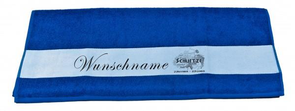 Sternzeichen Schütze und Wunschname Badetuch Duschtuch Handtuch
