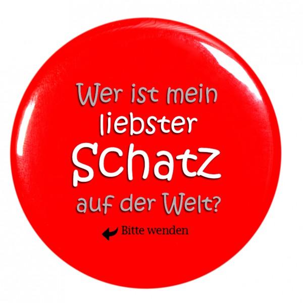 liebster Schatz Taschenspiegel, Spiegel, Button, rund, 56mm Durchmesser