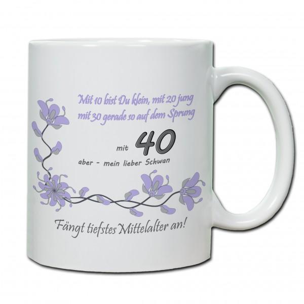 """""""40. Geburtstag - Tasse 04"""" Tasse, Keramiktasse"""