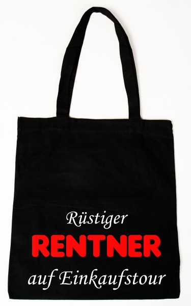 Rüstiger Rentner Baumwollbeutel, Tasche, Bag - witziger Spruch