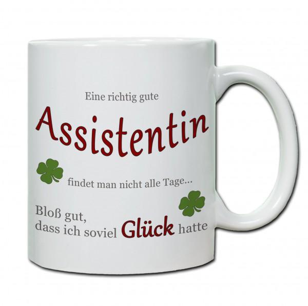 """""""Eine richtig gute Assistentin..."""" Tasse, Keramiktasse"""