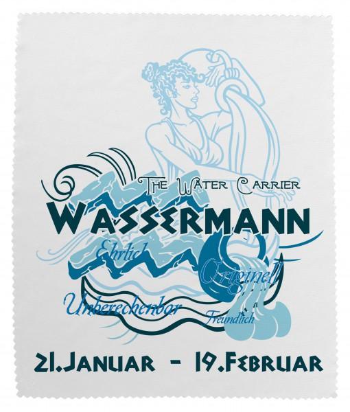 """""""Wassermann"""" Brillenputztuch Glasreinigungstuch 15x18 cm inkl. Verpackung"""