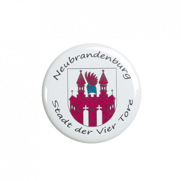 Neubrandenburg Stargarder Tor, Magnet, Kühlschrankmagnet, 56mm Durchmesser