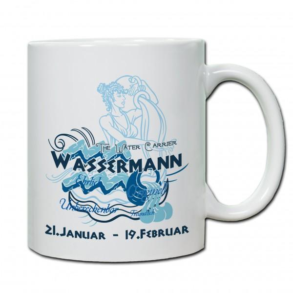 """""""Wassermann01"""" Tasse, Keramiktasse mit Sternzeichen"""